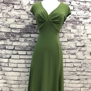 Jones of New York Olive Green Fit & Flare Dress